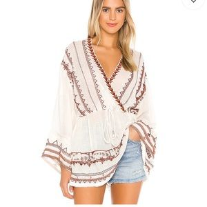 FREE PEOPLE| SAFFRON EMBROIDERED TUNIC